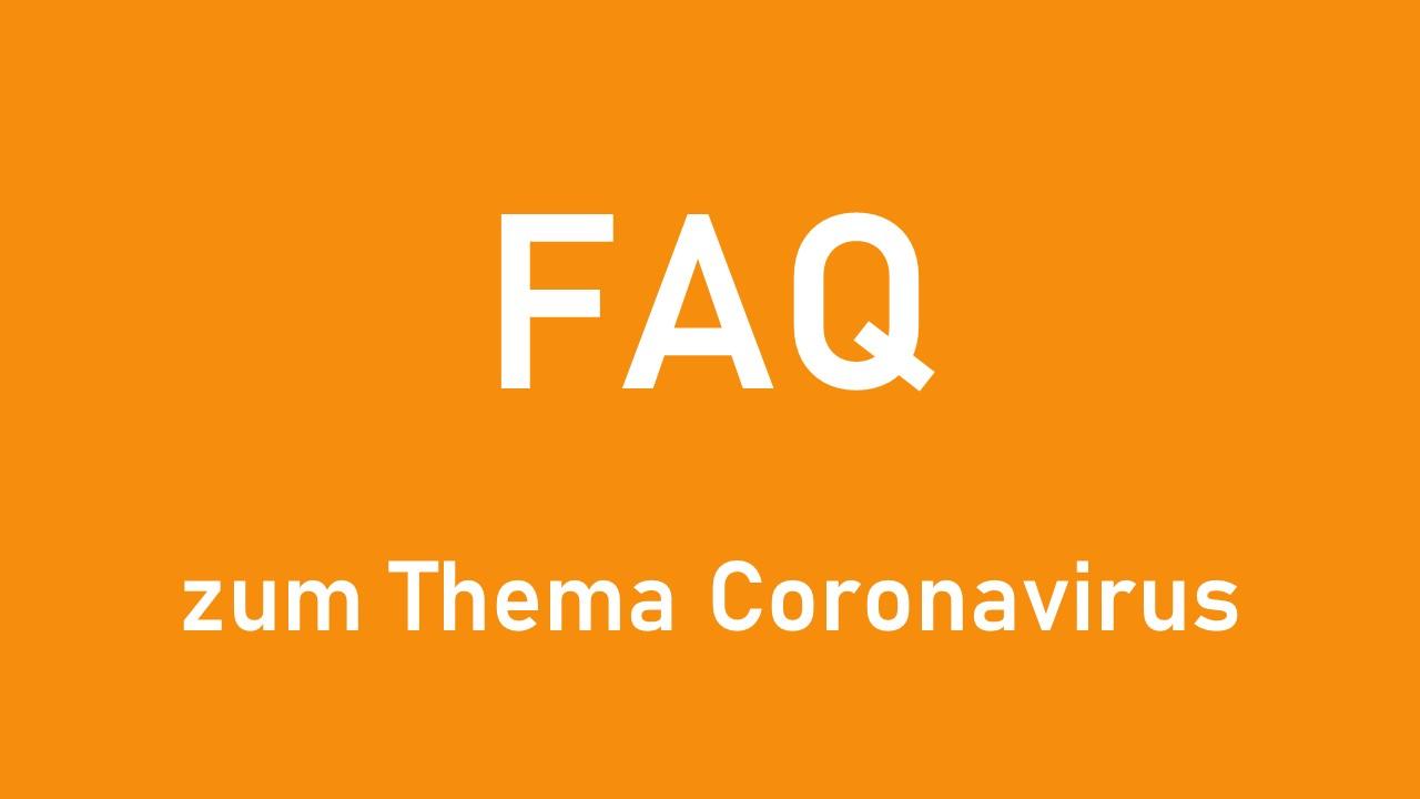 Titelbild FAQ Coronavirus